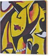 Catwalk, It Is Her Night Wood Print