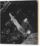 Catwalk Trapeze Artist Circus Aberdeen South Dakota 1965 Wood Print