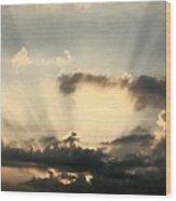 Caught At Sunrise Wood Print