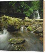 Cauldren Falls Wood Print