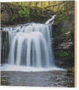 Cauldron Falls,west Burton, North Yorkshire. Wood Print