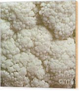 Cauliflower Head Wood Print