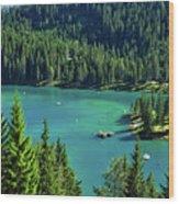 Caumasee Lake Switzerland Wood Print