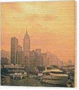 Causeway Bay At Sunset Wood Print