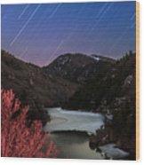 Raining Stars Wood Print