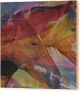Cavalos Wood Print
