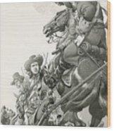 Cavalry Charge Wood Print