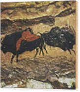 Cave Art: Bison Wood Print