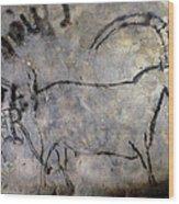 Cave Art: Ibex Wood Print