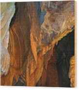 Cave At Cheddar Gorge  Wood Print by Jen White