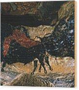 Cave Drawing/lascaux Wood Print