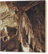 Cave Interior Wood Print