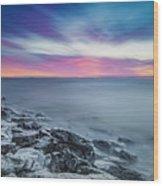 Cave Point Sunrise Wood Print
