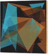 Cave Polygon Pattern Wood Print