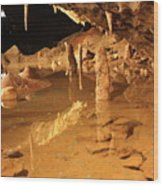 Cave Reflections Wood Print