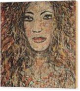 Cave Woman Wood Print