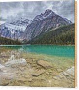 Cavell Lake Jasper Wood Print