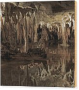 Cavern Reflections Wood Print