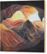 Caverne Wood Print