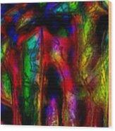 Caverns Of The Mind Wood Print