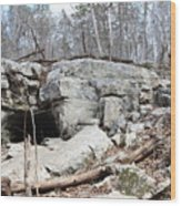 Caves At Lake Guntersville Wood Print