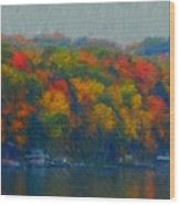 Cayuga Autumn Wood Print