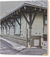 Cayuga Town Hall Wood Print