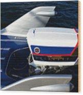 Fins Of A 1956 Sea Lark Boat Wood Print