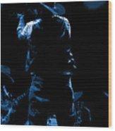 Cdb Winterland 12-13-75 #11 Enhanced In Blue Wood Print