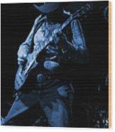 Cdb Winterland 12-13-75 #51 Enhanced In Blue Wood Print
