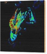 Cdb Winterland 12-13-75 #6 Enhanced In Cosmicolors Wood Print