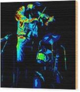 Cdb Winterland 12-13-75 #7 Enhanced In Cosmicolors Wood Print