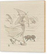 Ce Que Dit La Pluie Wood Print