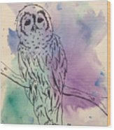 Cecil The Sad Owl Wood Print