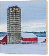 Cedar Brook Farm Wood Print
