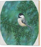 Cedar Chickadees - Bird 2 Wood Print