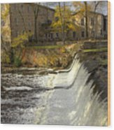 Cedar Creek Dam Wood Print