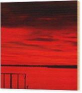 Cedar Creek Lake At Sunset Wood Print