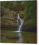 Cedar Falls 2 - Hocking Hills Ohio Waterfall Wood Print