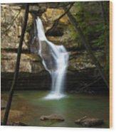 Cedar Falls - Hocking Hills Ohio Waterfall Wood Print