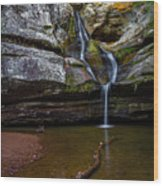 Cedar Falls In Hocking Hills State Park Wood Print