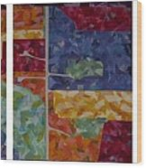Cedar Grove Arial Map Wood Print