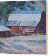 Cedar Hill Barn Wood Print