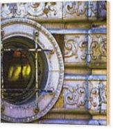 Cedar Hotel Round Window V3 Wood Print