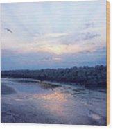 Cedar Island Sunrise 1 Wood Print