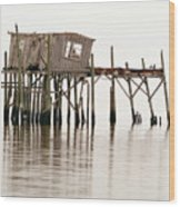 Cedar Key Structure Wood Print by Patrick M Lynch