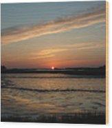 Cedar Key Sunset 1 Wood Print