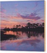 Cedar Key Sunset Wood Print