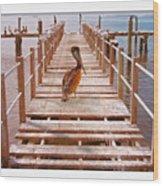 Cedar Key Wharf Wood Print