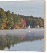 Cedar Lake Reflection Wood Print